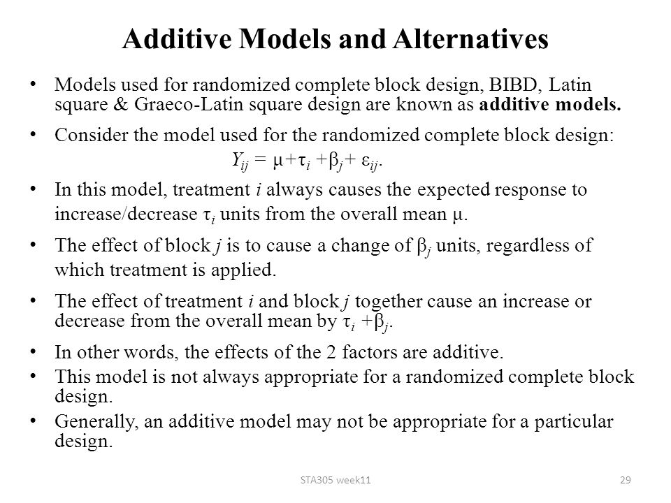 Additive Models and Alternatives