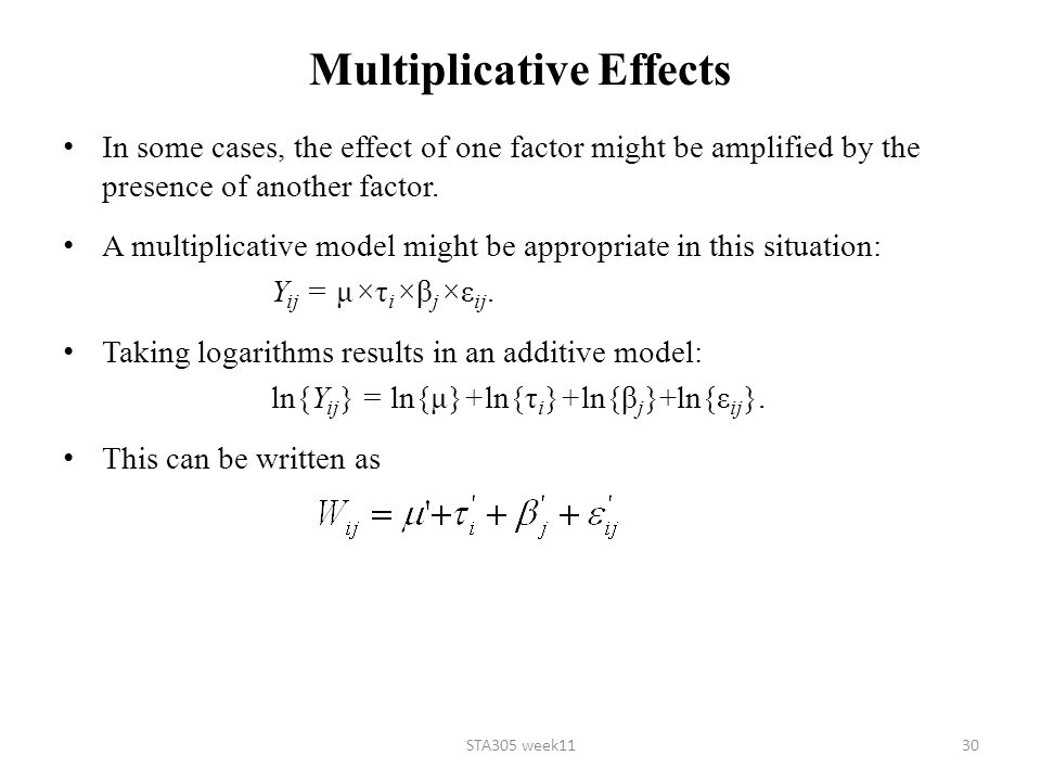 Multiplicative Effects