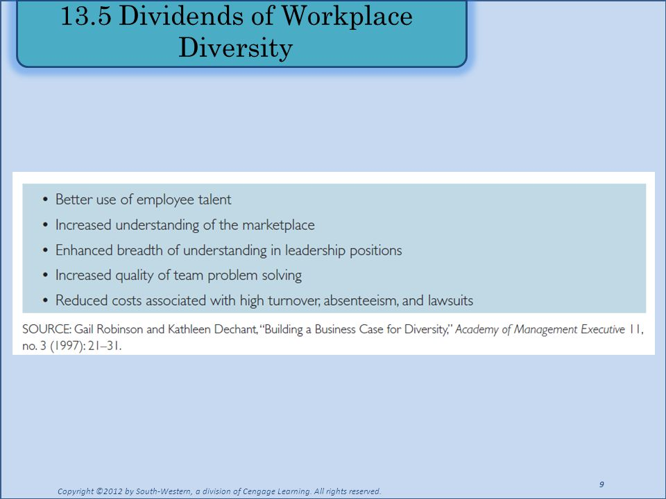13.5 Dividends of Workplace Diversity