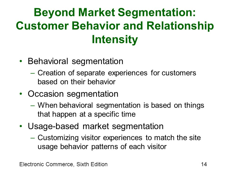 relationship between consumer behaviour and segmentation