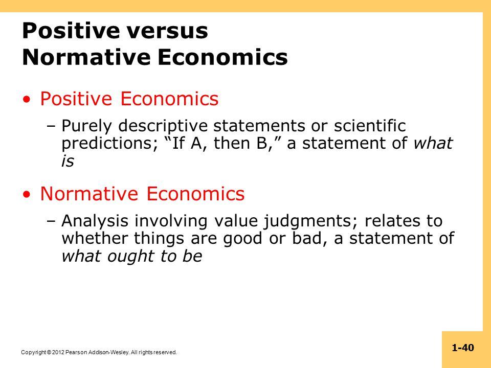 descriptive vs normative statements
