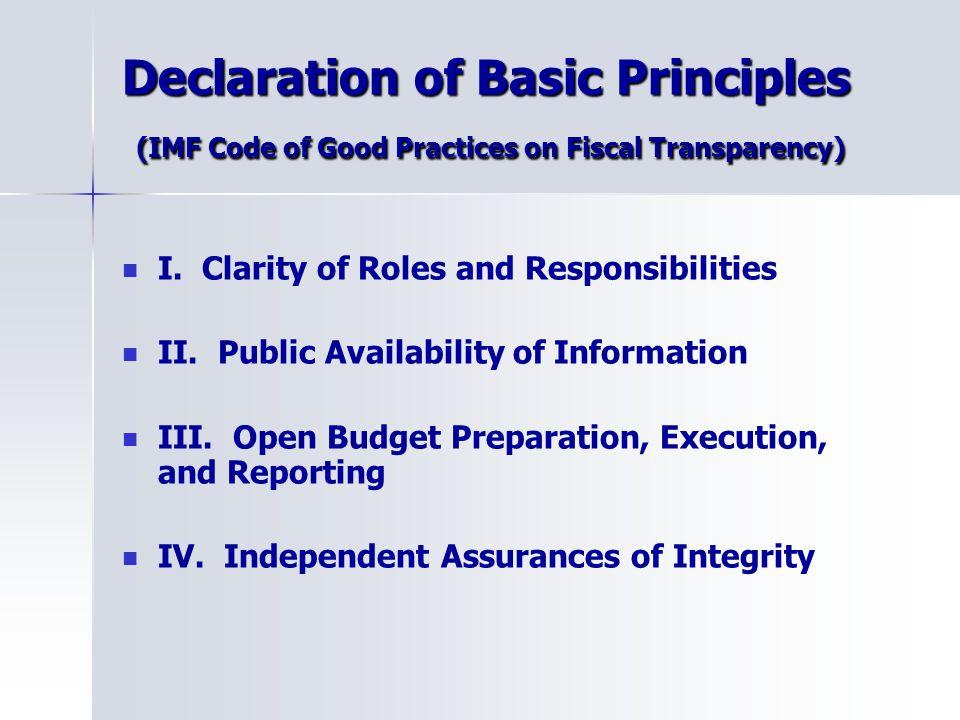 Accountability through financial reporting