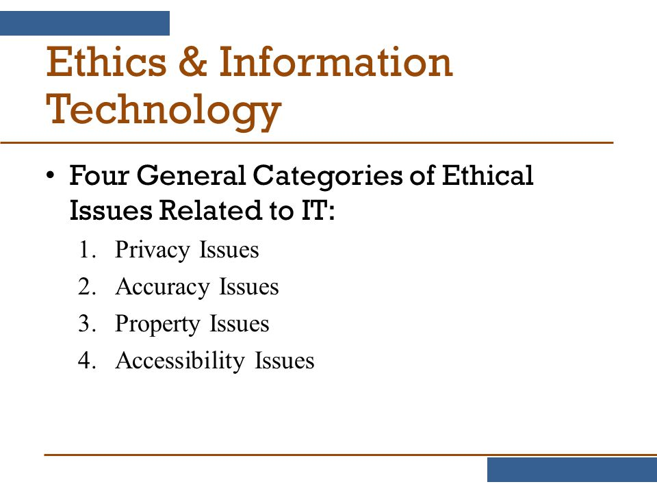 the application of ethics to information technology Ethics and information technology | ethics and information technology is a peer-reviewed journal dedicated to advancing the dialogue between moral philosophy and the field of information and.