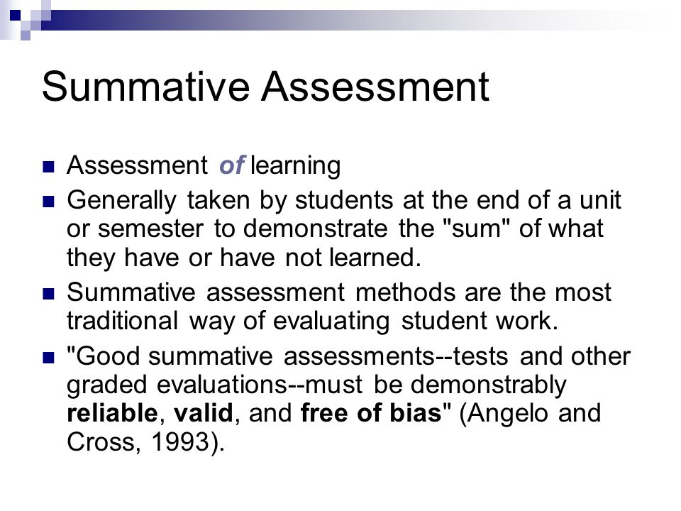 Assessment: Formative & Summative - Ppt Download