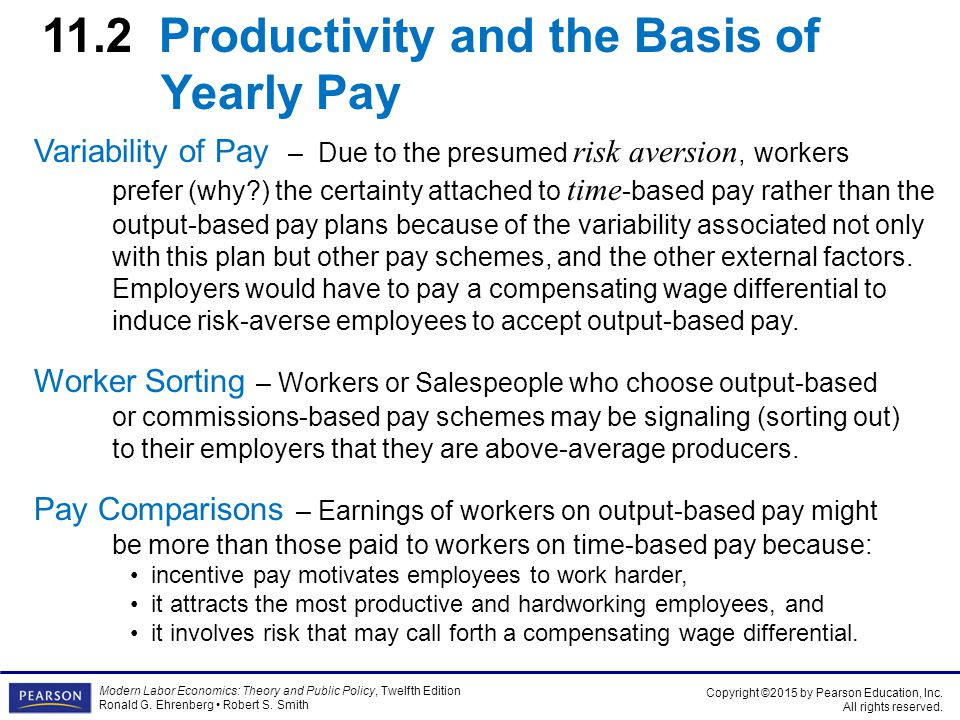11 pay and productivity wage determination within the firm ppt 112 productivity and the basis of yearly pay sciox Choice Image