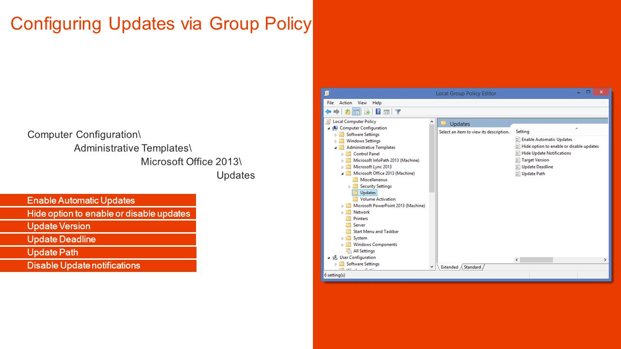 Office Group Policy Templates Office 365 ProPlus Managing Updates Ppt Video Online