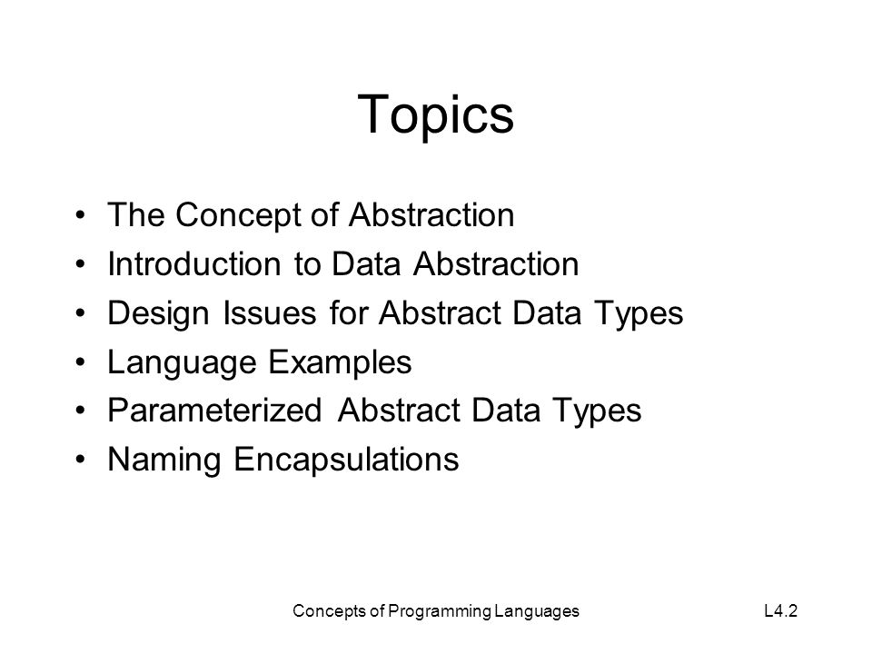 Lecture 9 Concepts Of Programming Languages Ppt Video Online Download