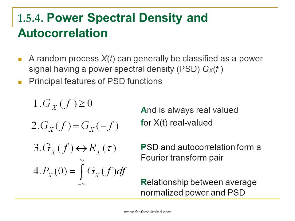 relationship between power spectral density and autocorrelation