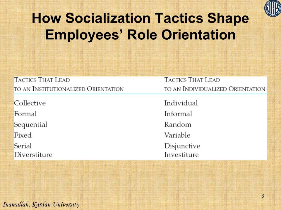 How Socialization Tactics Shape Employees' Role Orientation