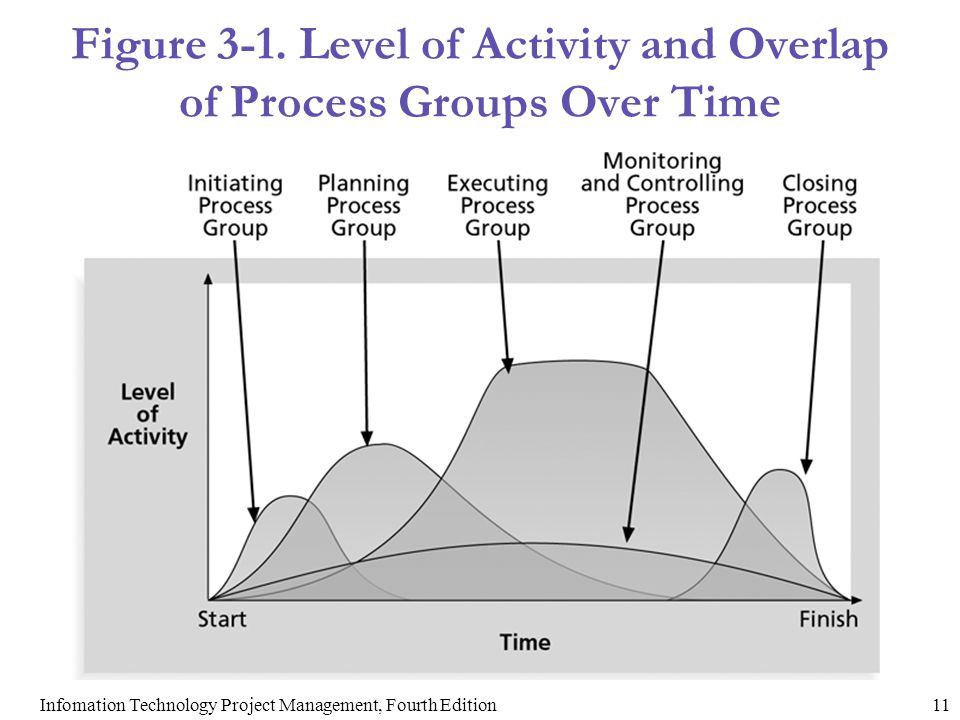 Figure 3-1. Level of Activity and Overlap of Process Groups Over Time