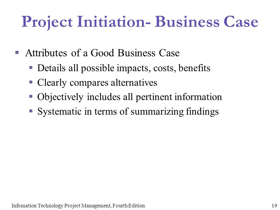 Project Initiation- Business Case