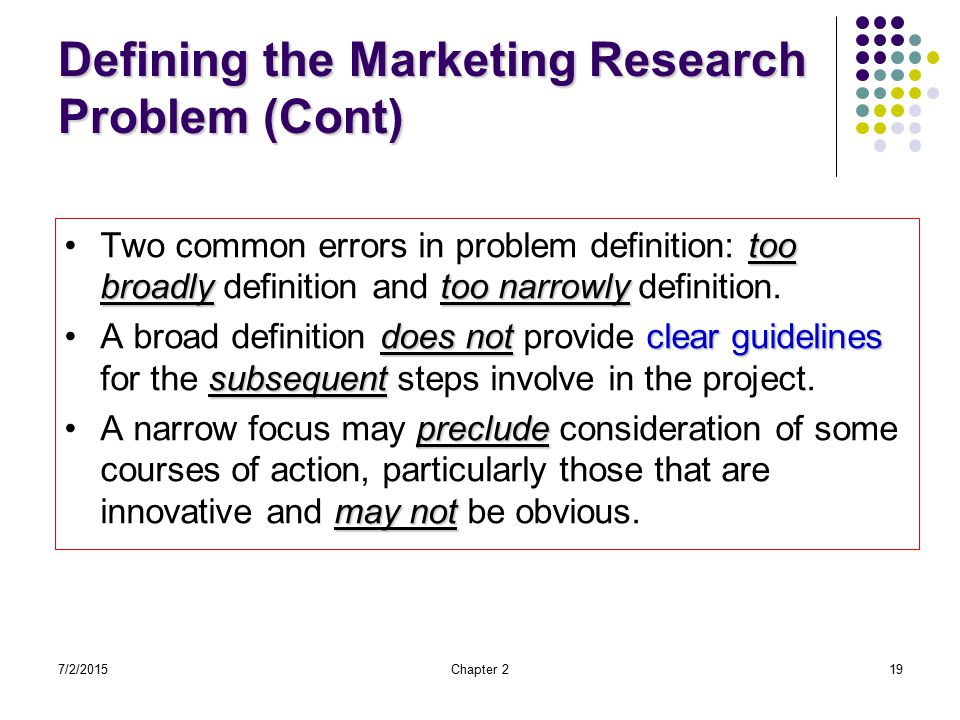 marketing research problem 2-marketing research problem - download as powerpoint presentation (ppt), pdf file (pdf), text file (txt) or view presentation slides online marketing research.