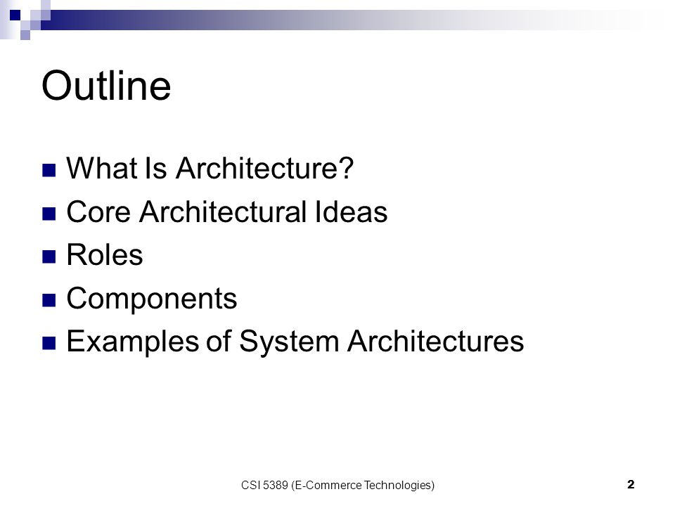 Functional Architecture Of E-Commerce Systems
