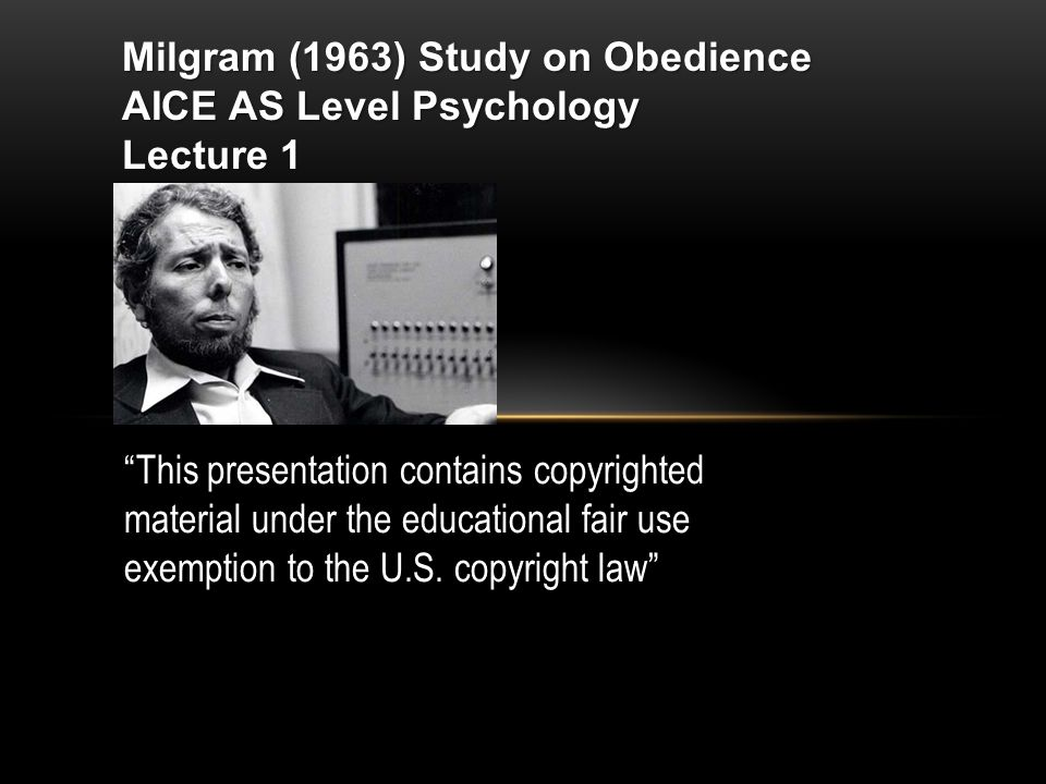 milgrams research on obedience Read this miscellaneous research paper and over 88,000 other research documents milgram's study of obedience to authority stanley milgram is a famous psychologist who focused his studies on authority and peoples reaction and obedience to it his.