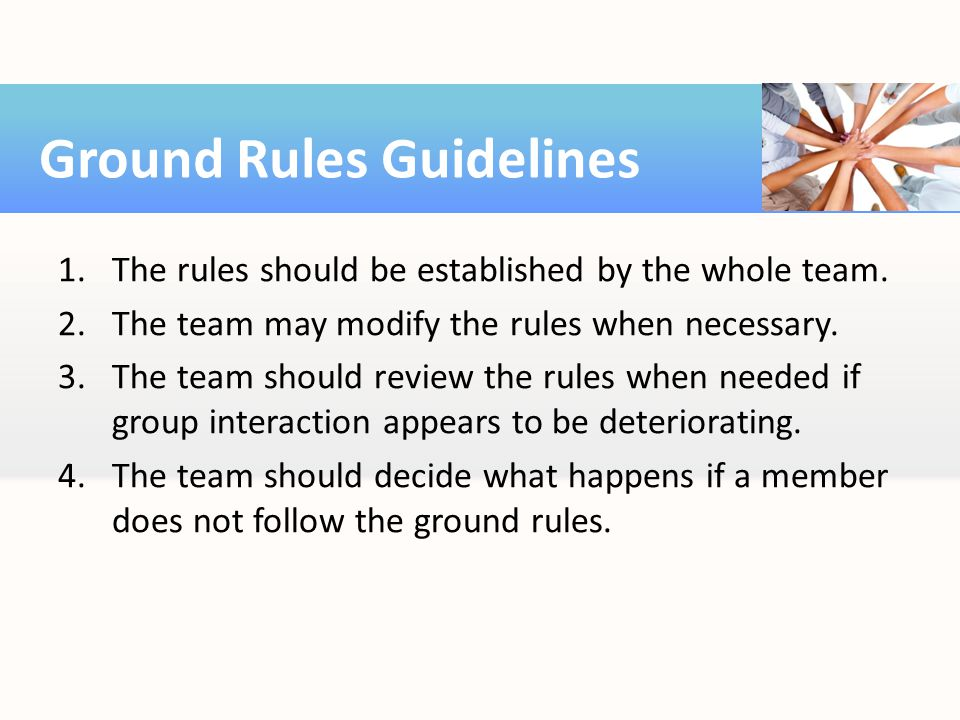 Ground Rules Guidelines