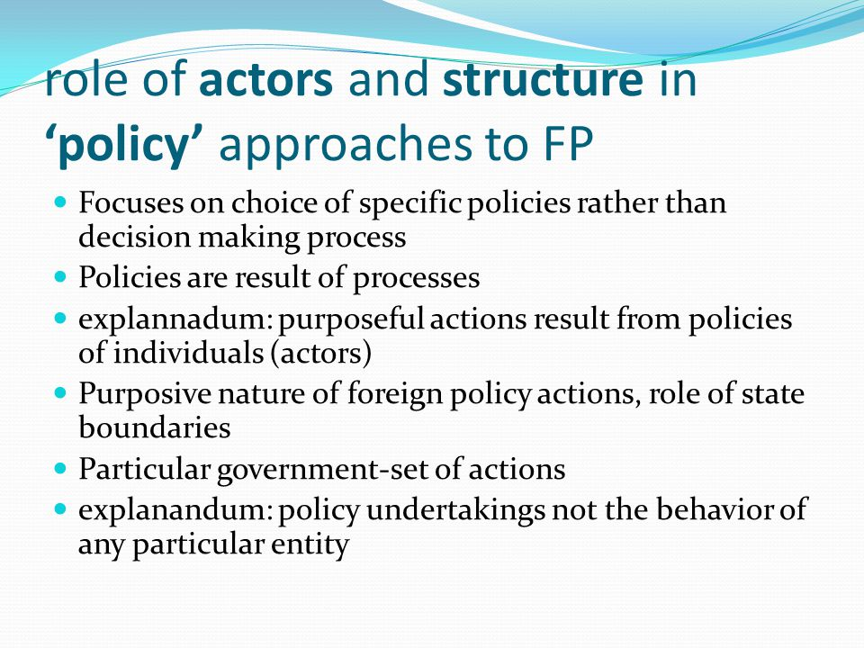 role of government in policy making Policymaking is the act of creating laws or setting standards for a government or business.