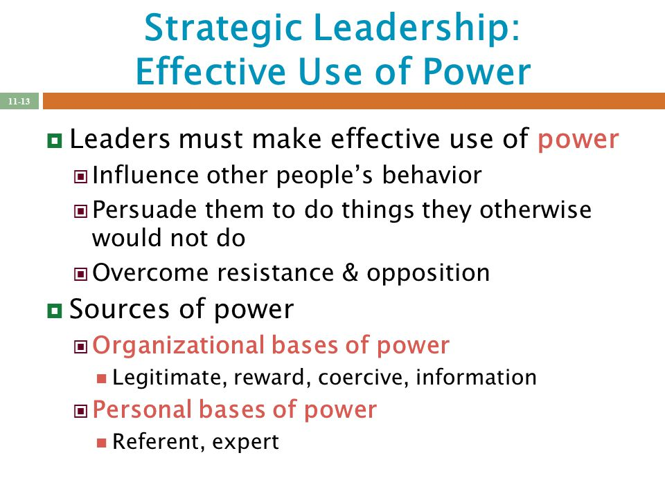 Strategic leadership