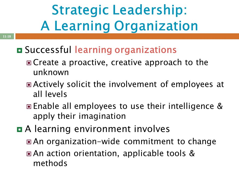 ways of creating a learning organization What are the characteristics of a learning organization here are the top  strategies for building a successful learning culture and growing your.