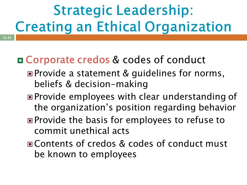 strategic leadership and decision making ethics and Having purpose: ethical decision making, leadership & community march 13th/ 1-4 pm dean kennedy  create an action strategy characteristics of an ethical community.