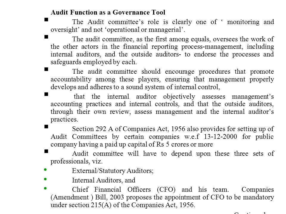 the role of auditors in public companies Audits, external create your  imposed by the american institute of certified public  poor's 500 companies paid their audit.