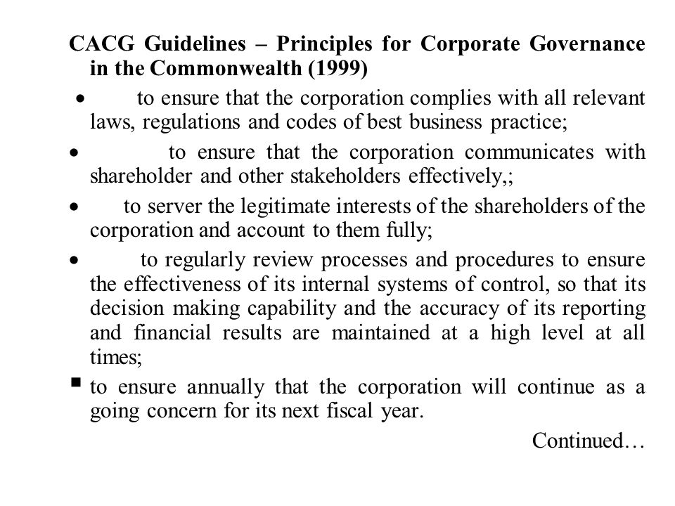 principles of internal control and corporate governance pdf