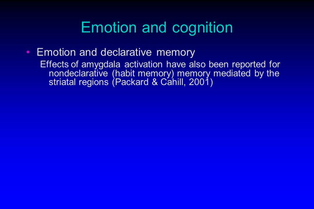 emotions and memory Where stress hormones and emotional memory are concerned, again, it is a matter of balance as such, too much of a good thing can be bad we are equipped with a system that makes it is easy for us to remember things of emotional significance be they good or bad.