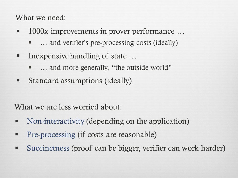 1000x improvements in prover performance …