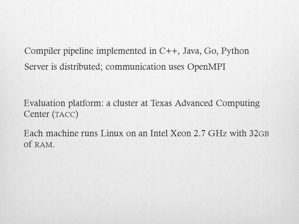 Compiler pipeline implemented in C++, Java, Go, Python