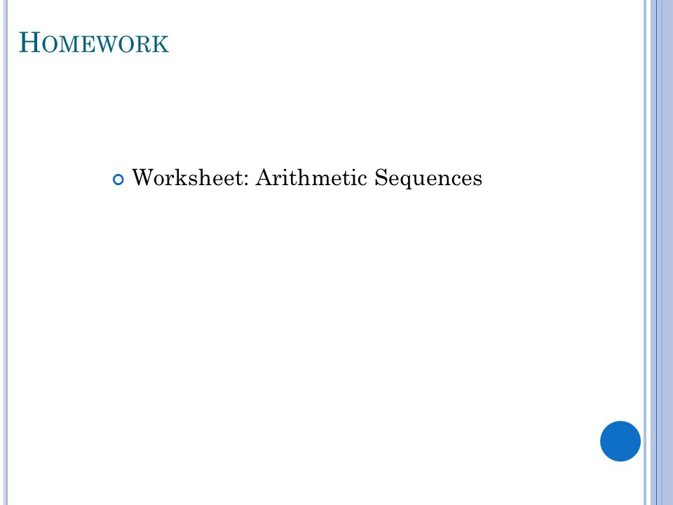 Unit 7 Sequences Series ppt video online download – Arithmetic Sequence Worksheets