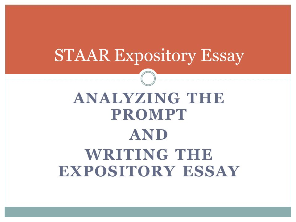objectives for writing an expository essay