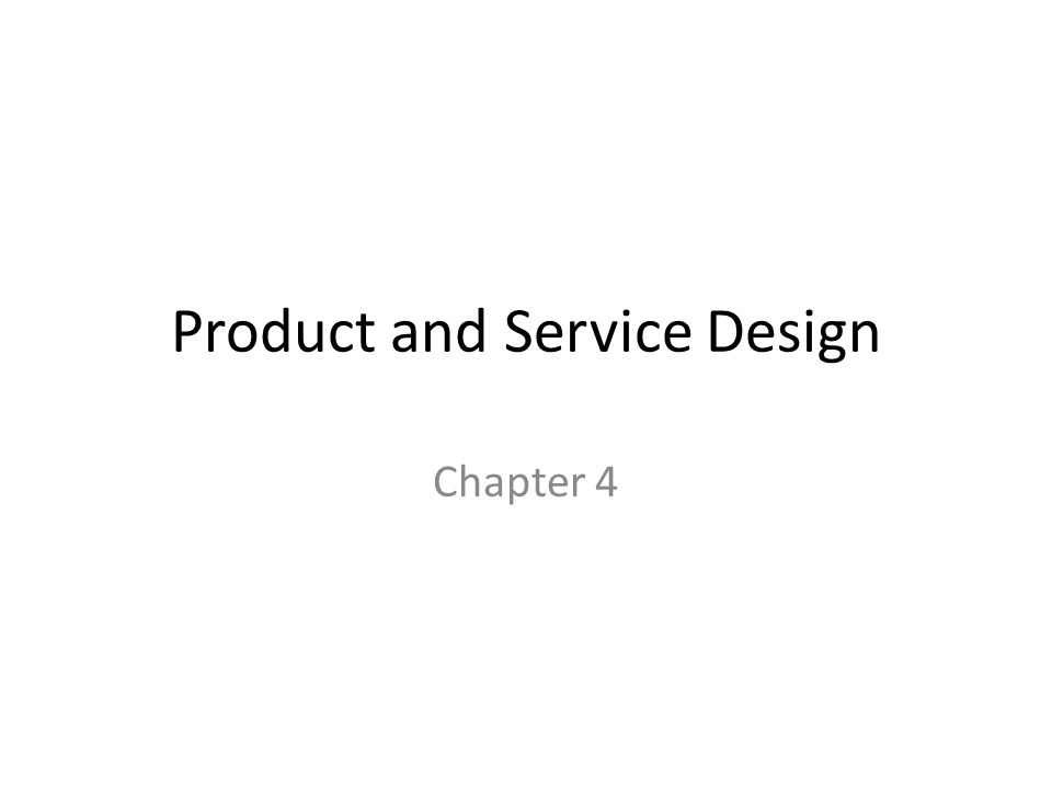 Product and service design ppt video online download for Product and service design