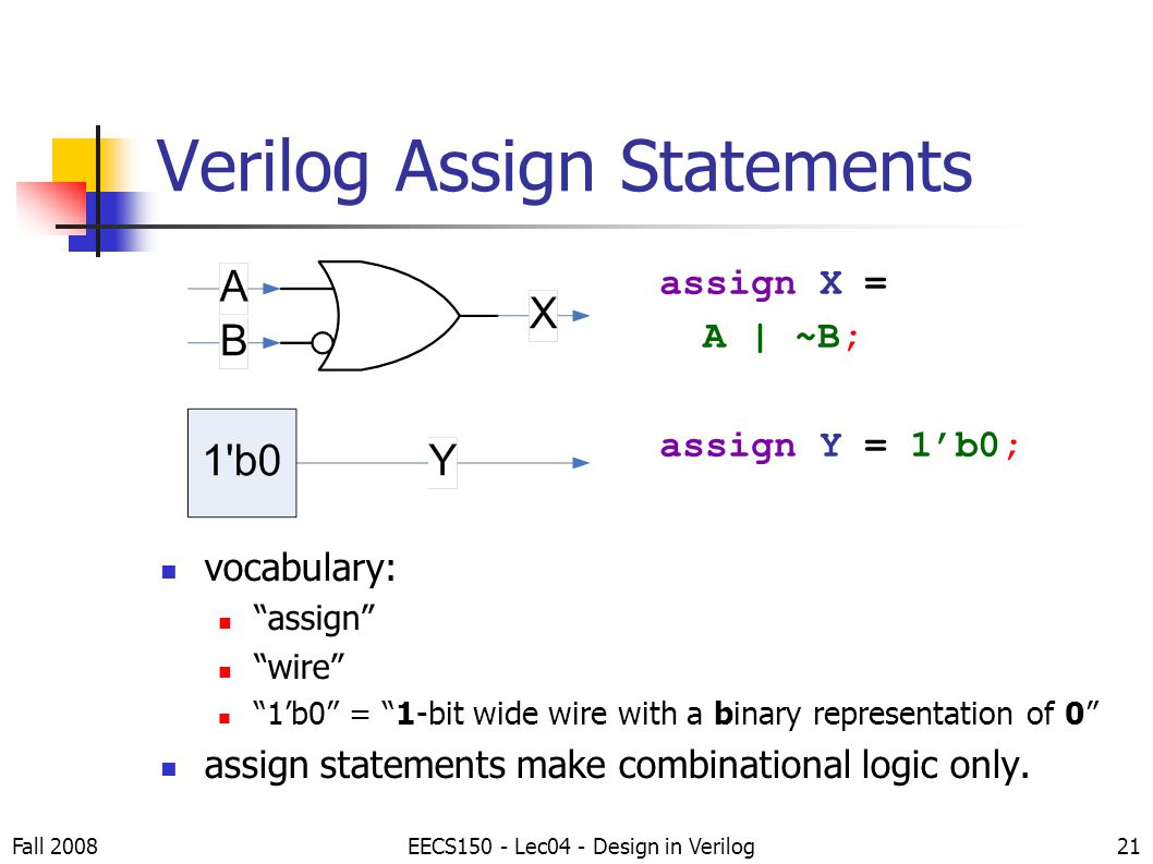 verilog assignment