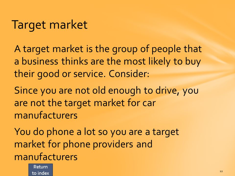 how to describe target market in a business plan