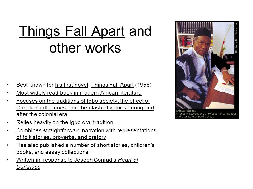 things fall apart essay questions Things Fall Apart Study Questions.