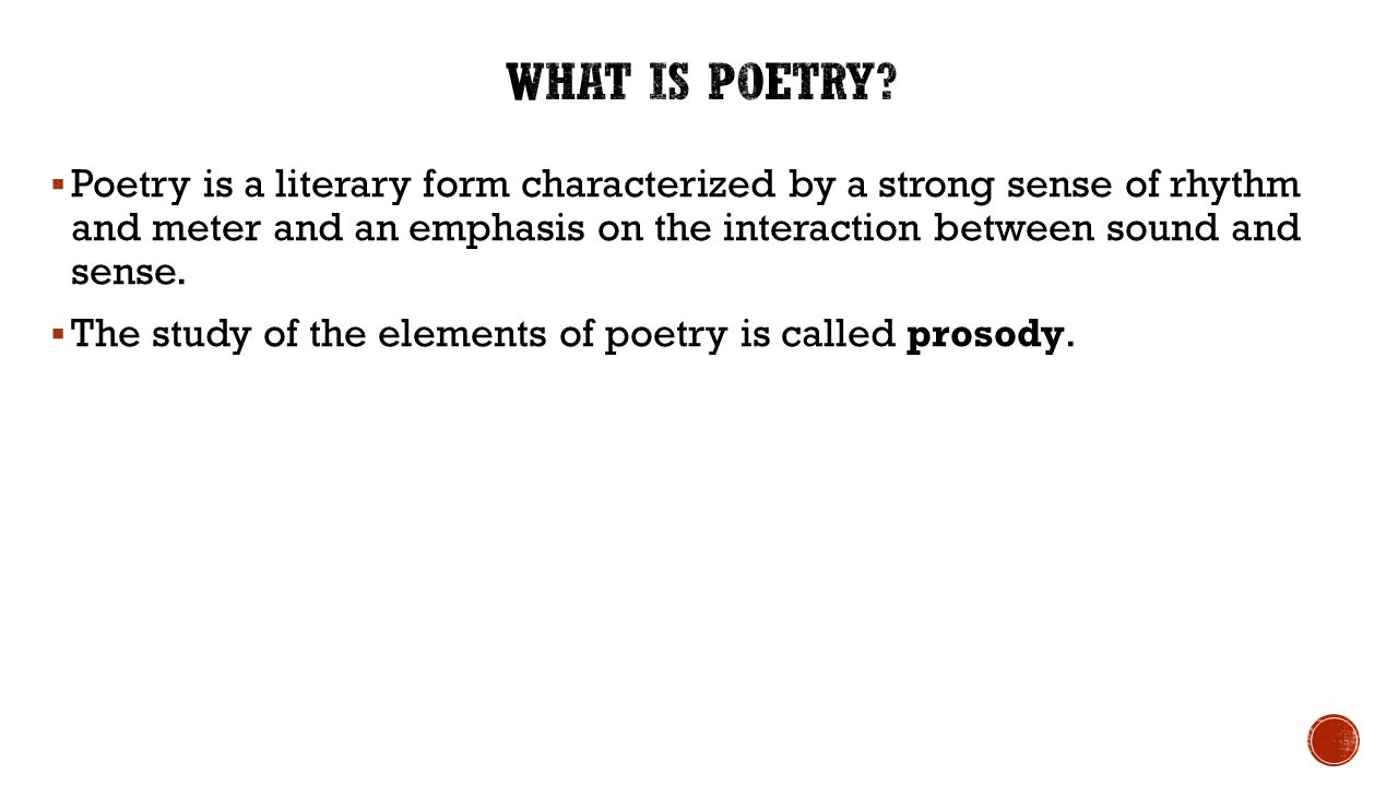 Poetry Stuff. - ppt download