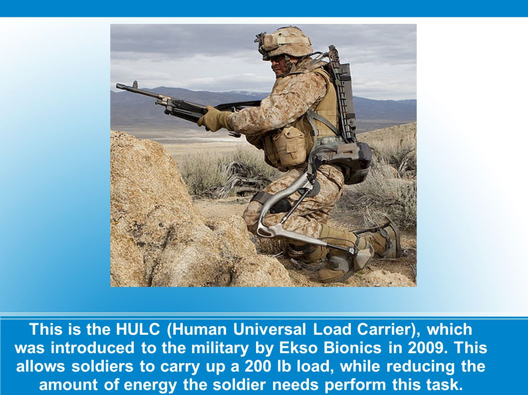 This is the HULC (Human Universal Load Carrier), which was introduced to the military by Ekso Bionics in 2009.