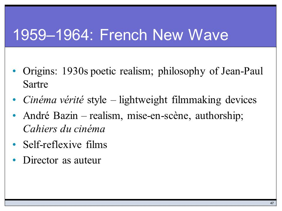 french new wave and poetic realism essay From the pioneers of the silver screen to today's new realism, french directors of poetic realism of the french new wave in.