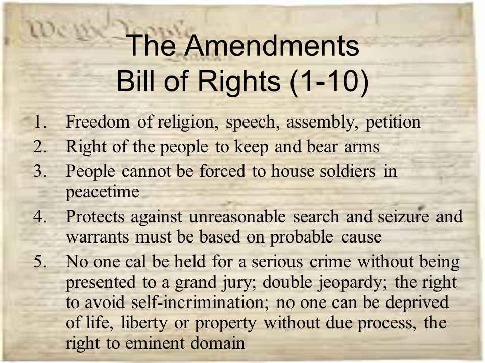 "ten amendments of the bill of rights essay The second of the ten amendments relates to the  as with the other amendments in the bill of rights,  (""the bill of rights and the 14th amendment essay."