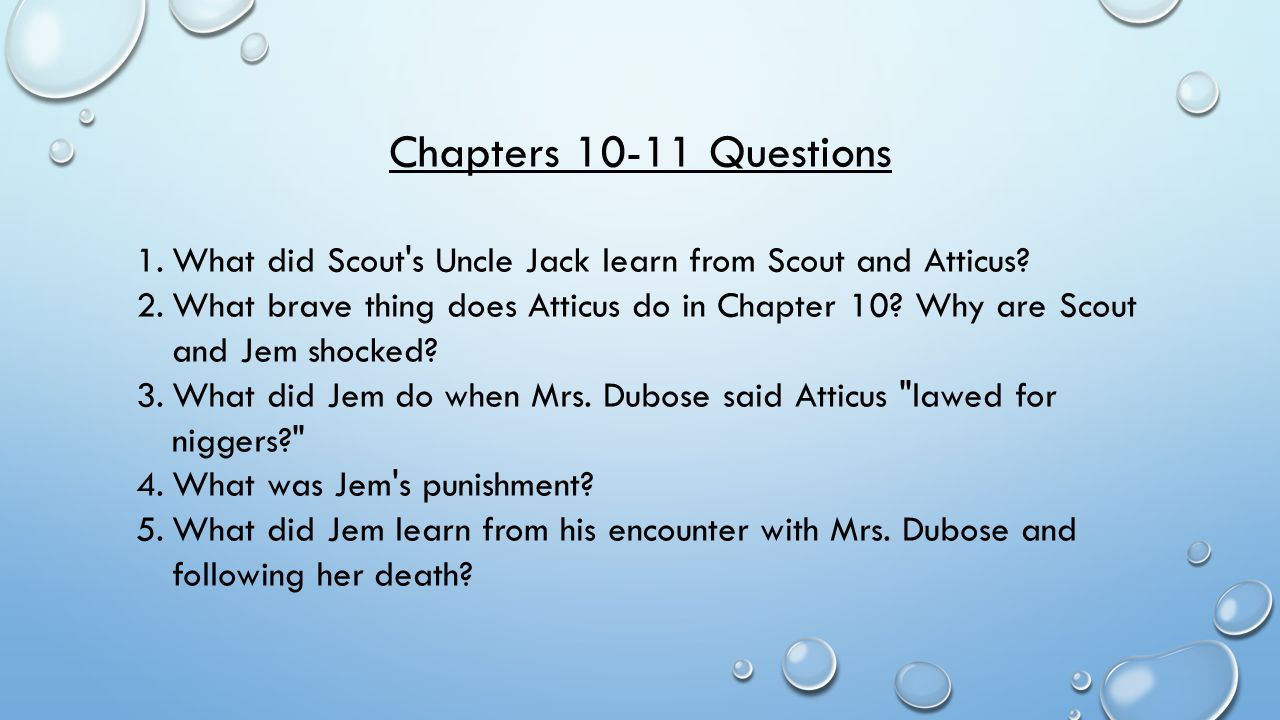calpurnia and scout relationship questions