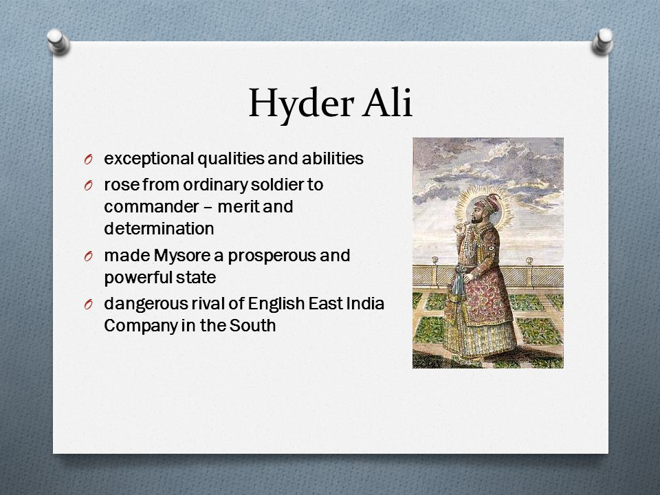 Hyder Ali exceptional qualities and abilities