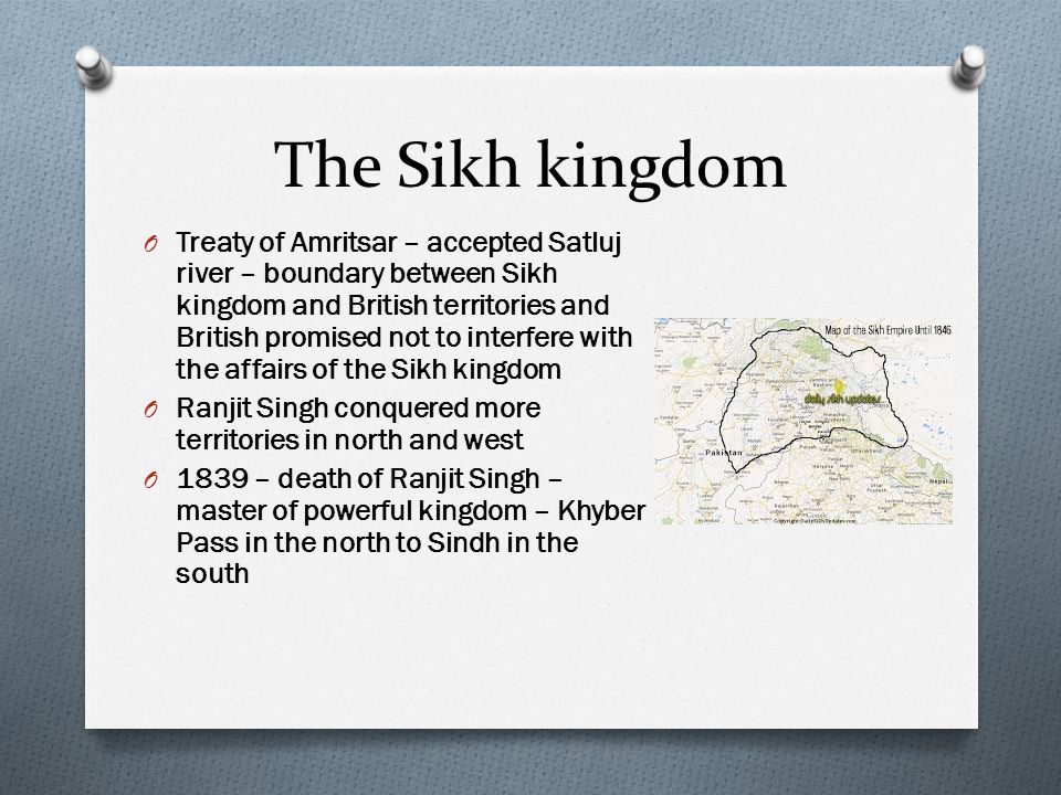 The Sikh kingdom