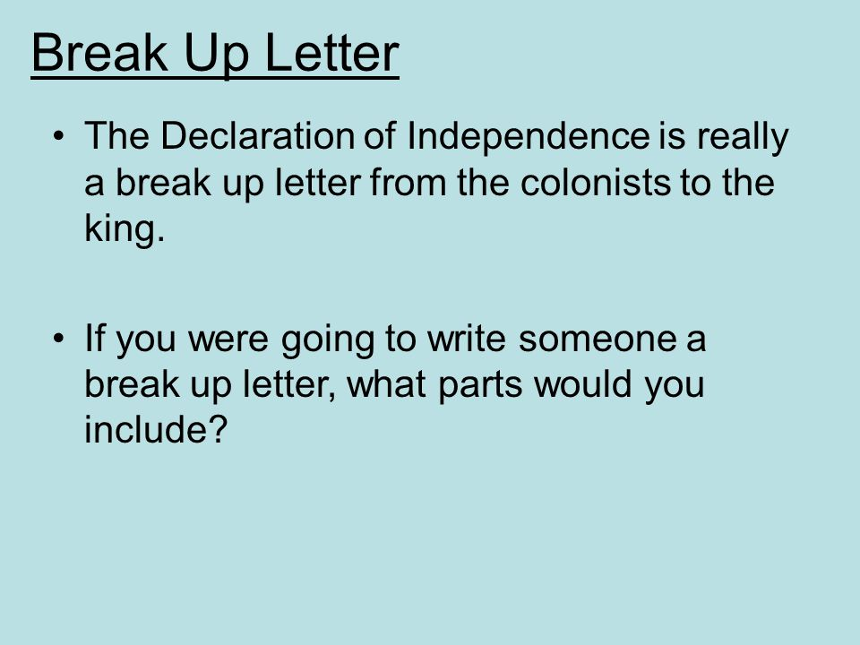 Declare Independence From Your Parents.?