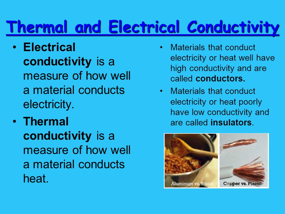 Electrical Conductivity Chemical Or Physical Property
