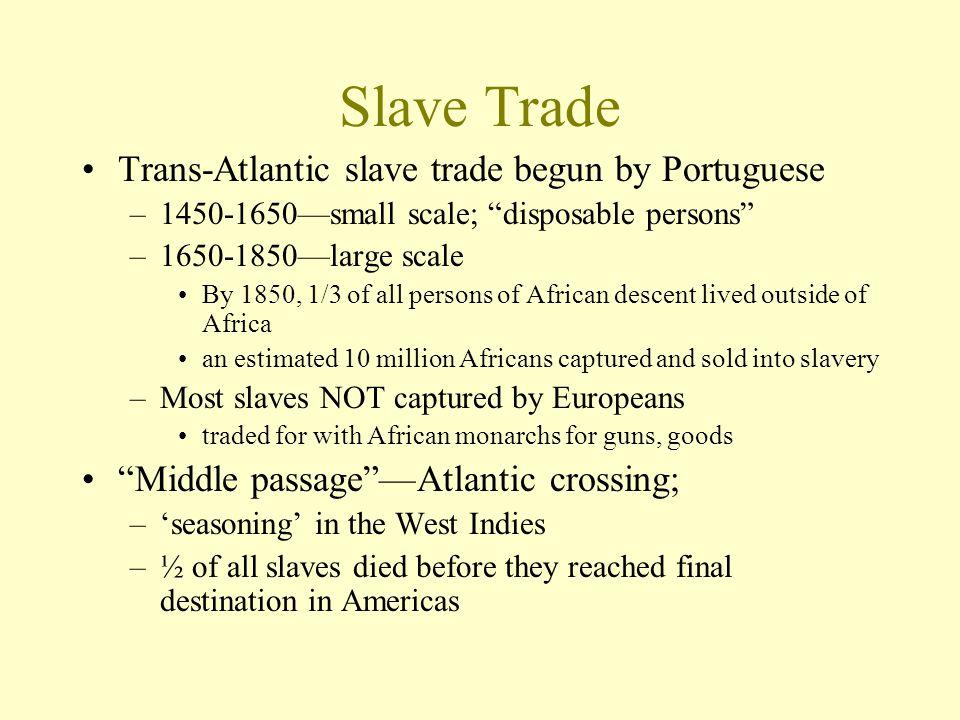 Slave Trade Trans-Atlantic slave trade begun by Portuguese