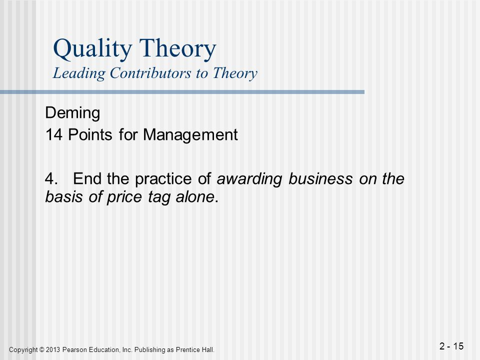 application of deming 14 points to W edwards deming's 14 points are the basis for transformation of  the 14  points apply anywhere, to small organisations as well as to large.