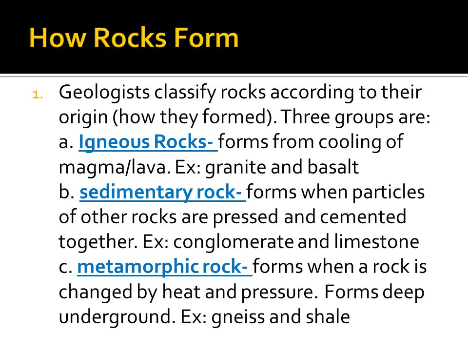Types of Rock. - ppt video online download