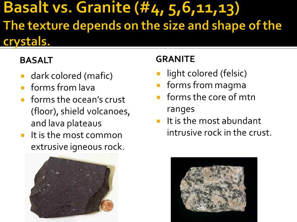 Granite Vs Basalt : Types of rock ppt video online download