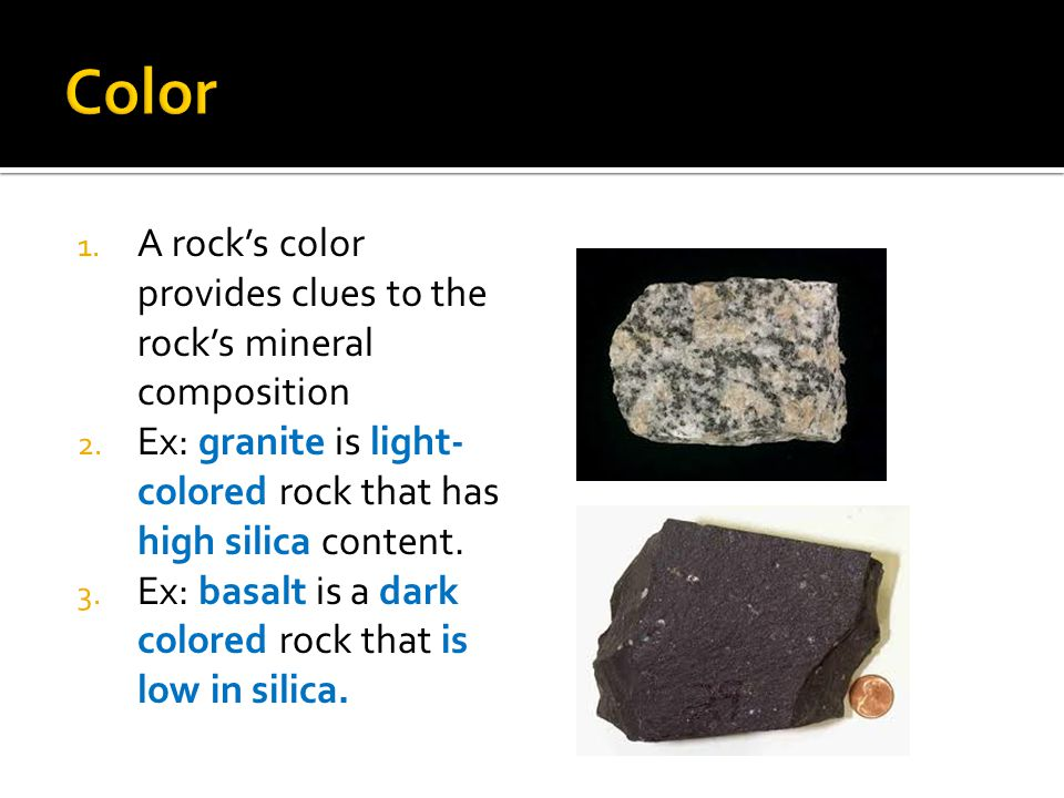 Difference Between Basalt And Granite : Types of rock ppt video online download
