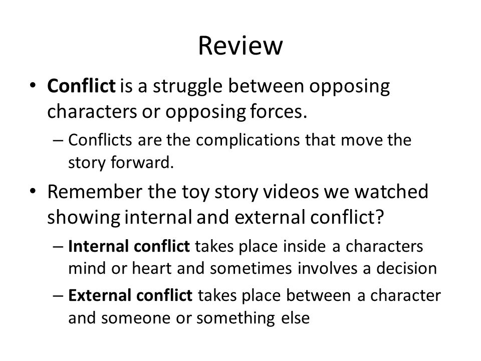 Types of Conflict October 28 ppt download – Internal and External Conflict Worksheets