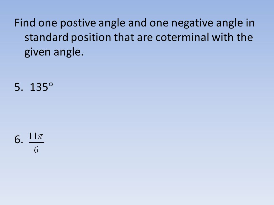 Sec 61 Angle Measure Objectives ppt download – Coterminal Angles Worksheet